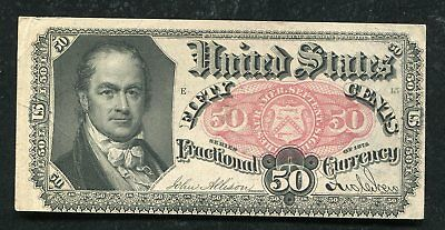 Fr. 1380 50 Fifty Cents Fifth Issue Fractional Currency Note Extremely Fine