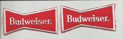 "Pair of  Budweiser ""bowtie"" patches"