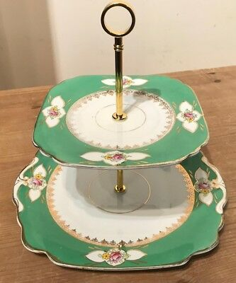Vintage Cake Stand- 2 Tier- Ideal for afternoon Tea - Perfect Christmas Gift #G