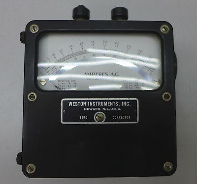 Weston Model 433 AC Amp Meter Tested and Working