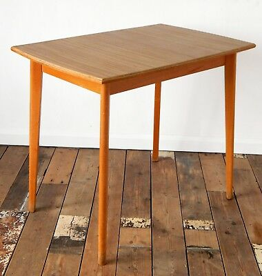 Vintage 50s 60s Mid Century Kitchen Dining Table Formica Top Retro
