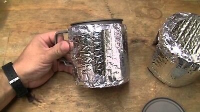 Custom camping hiking backpacking reflectix foil insulated pot cosy kit