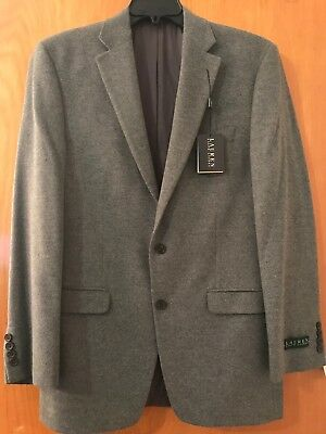 Ralph Lauren Classic Fit Brown Houndstooth Two Button Wool Blazer Sportcoat 40 L