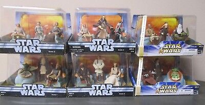 Jedi High Council COMPLETE Set STAR WARS Saga Scene 1-6 MIB 1 2 3 4 5 6
