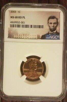 2003 Lincoln 1c, NGC Certified MS 68 RD PL