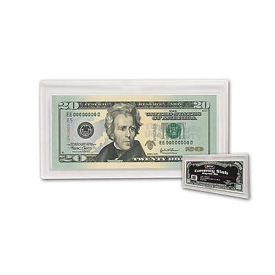 1 Box of 25 BCW Deluxe Currency Slab - Regular Bill Storage Protect Display