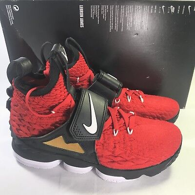 490160a416 Nike Lebron XV 15 Prime Diamond Turf AO9144-600 Red Deion Men's Size 8
