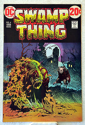 Swamp Thing #4 (1973) Len Wein, Bernie Wrightson, VF/NM range.