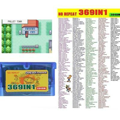 369 in 1 Multi GBA Game Boy Advance Cart Tons of Classic Games - Pokemon Mario
