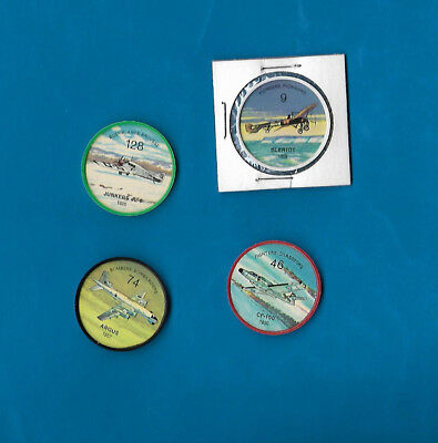 1960's Jello Airplane Coins Lot of 4  #s 9/46/74/126  NM-MT