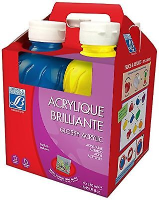 Lefranc and Bourgeois 807557-Stationery-Glossy-Pack of 4 X 250 Ml Mehrfarbig