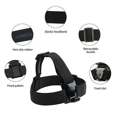 Adjustable Elastic Headband Belt Head Strap Mount For GoPro Hero 4 3+ 3 2 Camera