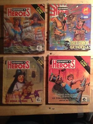 Hombres Y Heroes, A Todo Color, Mexican Comic, Spanish, Lot Of 4