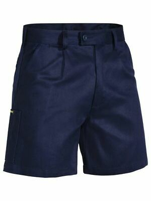 SPECIAL!! BISLEY WORKWEAR WORK SHORT MENS DRILL(BSH1007)  Navy + FREE SHIPPING