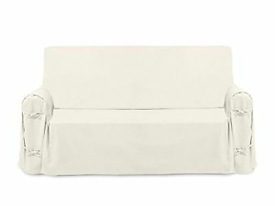 PANAMA cotton settee cover - ecru