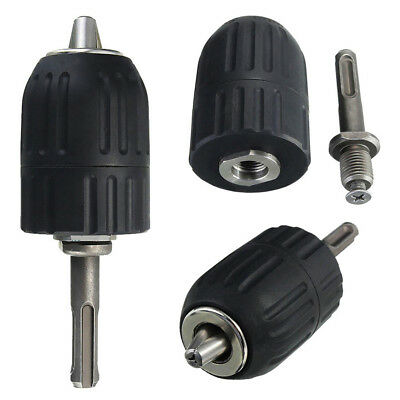 "New Keyless Drill Chuck 2-13mm To 1/2"" - 20UNF Thread With SDS Adapter Accessory"