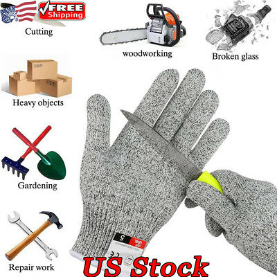 Outdoor Protect Gloves Working Certified Safety Meat Cut Wood Carving Glove New