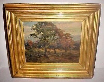 Late 19Th Century Landscape Oil Painting Northern Vermont - Original Gilt Frame