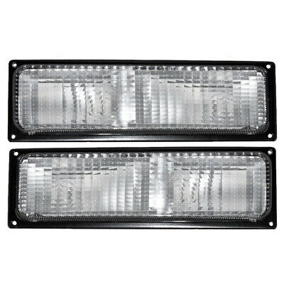 88-89 Chevy GMC Pickup Truck Set of Front Signal Marker Lights 5974335 5974336