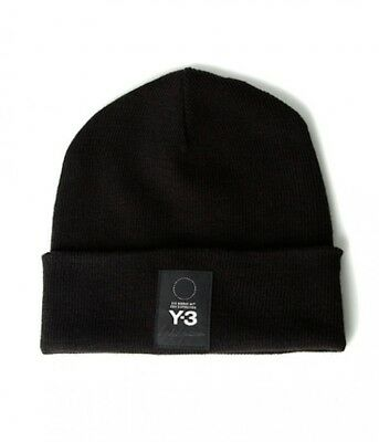 Y-3 adidas YOHJI YAMAMOTO Logo Beanie Cap Fitted One Size Fits Most Japan  Brand 5678902871e