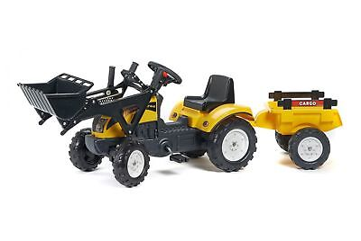 Falk 07228 – Tractor with Bucket and Trolley, Yellow