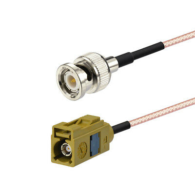 "Fakra ""K"" female to BNC male RF Adapter Cable pigtail RG316 3m for Radio Antenna"