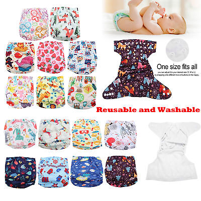Reusable Baby Pocket Cloth Diaper Washable Cover Adjustable Infant Kid Nappy NEW