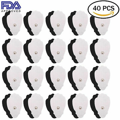 40 Pc Large Snap On Replacement Pads For Electrode TENS Unit&Pulse Massager US