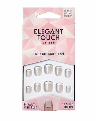 Elegant Touch - French Nails - Bare - 144 - X-Small - Square Shape