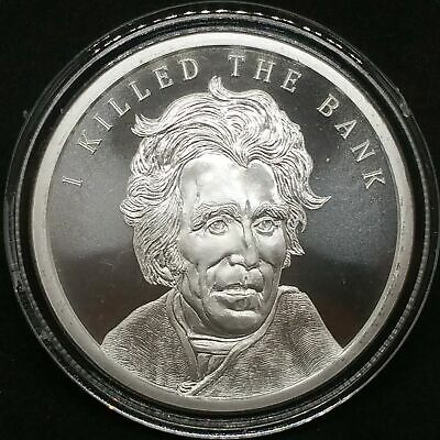 2018 1oz Silver Shield 1 oz Andrew Jackson BU MiniMintage Presidents Series #7