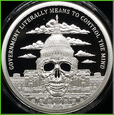 2018 1oz Silver Shield Government Mind Control Proof MiniMIntage