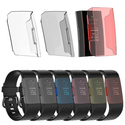 Clear Hard PC Protective Case Screen Protector Case Cover For Fitbit Charge 3