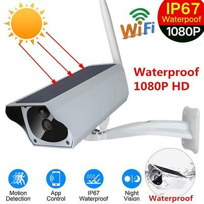 Outdoor Waterproof Solar Power WiFi IP Camera 1080P Wireless IR Surveillan Cam