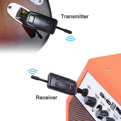 Wireless Audio Transmitter Receiver System for Electric Guitar Violin Bass TK