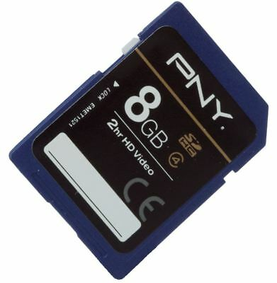 PNY Premium Flash Memory Card SDHC 8GB Class 4 For Compact Cameras & Camcorders