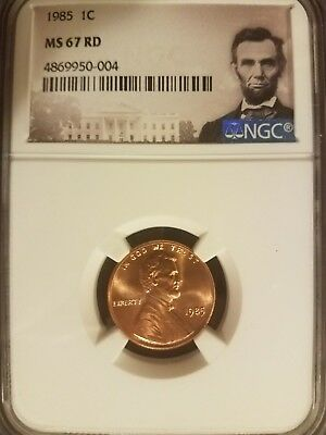 1985 Lincoln 1c, NGC Certified MS 67 RD
