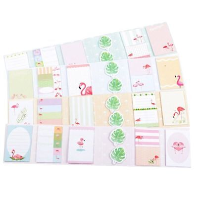 1x Cute Flamingo 4 Folding Memo Pad N Times Sticky Notes Memo Notepad Lovely