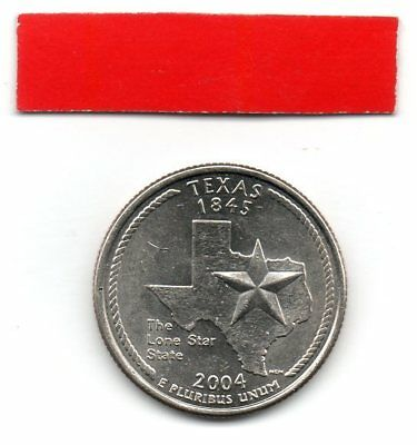 UNITED STATES Quarter TEXAS 2004 25c cents State USA US coin P
