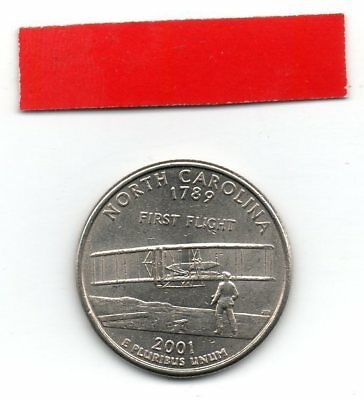 UNITED STATES Quarter NORTH CAROLINA 2001 25c cents State USA US coin P