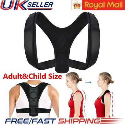 Unisex Body&Wellness Posture Corrector Adjustable Orthotics Braces Belt UK STOCK