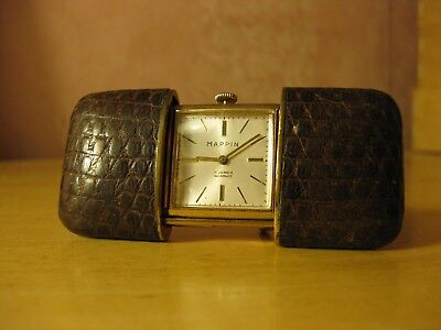 Mappin Top Quality 1950's Swiss Made Vintage Travel Clock, Pocket/purse Watch