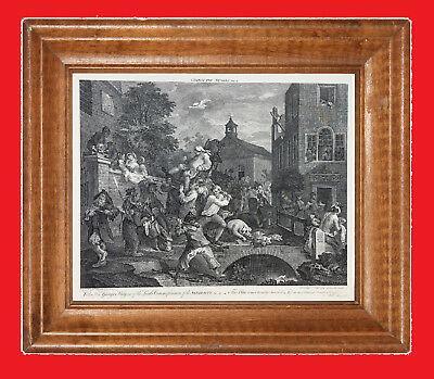 """WILLIAM HOGARTH  """"The Election"""" Series  - Plate No.4 Vintage Print  - 24"""" x 18"""""""