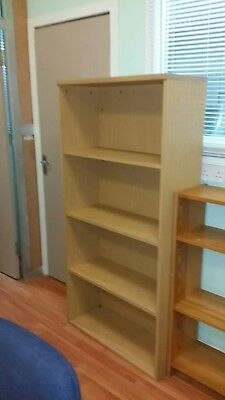 Office Bookcase in Oak with Adjustable Shelves  - Height 1600mm