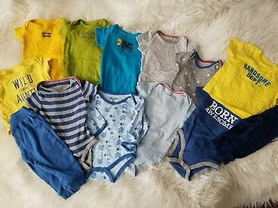 Baby Boy 6-9 Month Lot Bundle One Pieces Pants Shirts