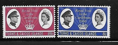 Turks and Caicos islands 1966 Royal Visit issue Omnibus MNH A357