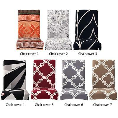 Modern Thin Elastic Removable Chair Cover Stretch Seat Case Slipcover Banquet