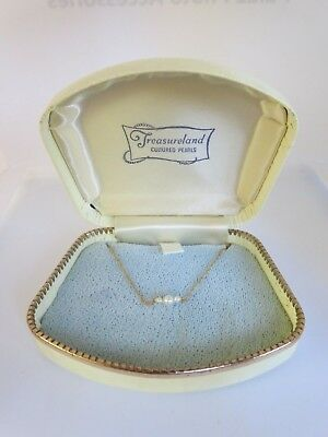 """VTG 14K Yellow Gold Child's Cultured Graduated Pearl Necklace 14"""""""