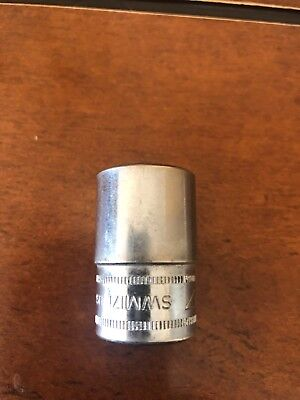 """Snap-on Tools USA 1/2"""" Drive 17mm Metric 12 Point Shallow Socket SWM171"""
