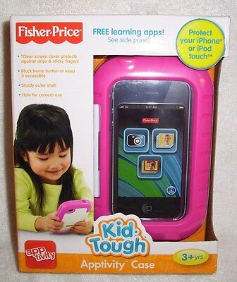NEW Fisher-Price Kid-Tough Apptivity Case Pink Toy Kids For Apple iPhone & iPod