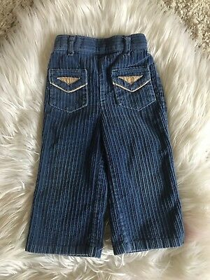 Boys Vintage Billy The Kid Corduroy Pant Blue Front Pockets Size 2t